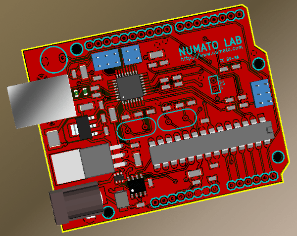 Arduino design in KiCad