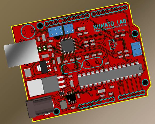 Arduino design in KiCad