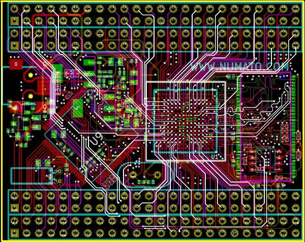 Spartan 6 FPGA Module with ATSAM (CygnusAT) Schematics and Layout