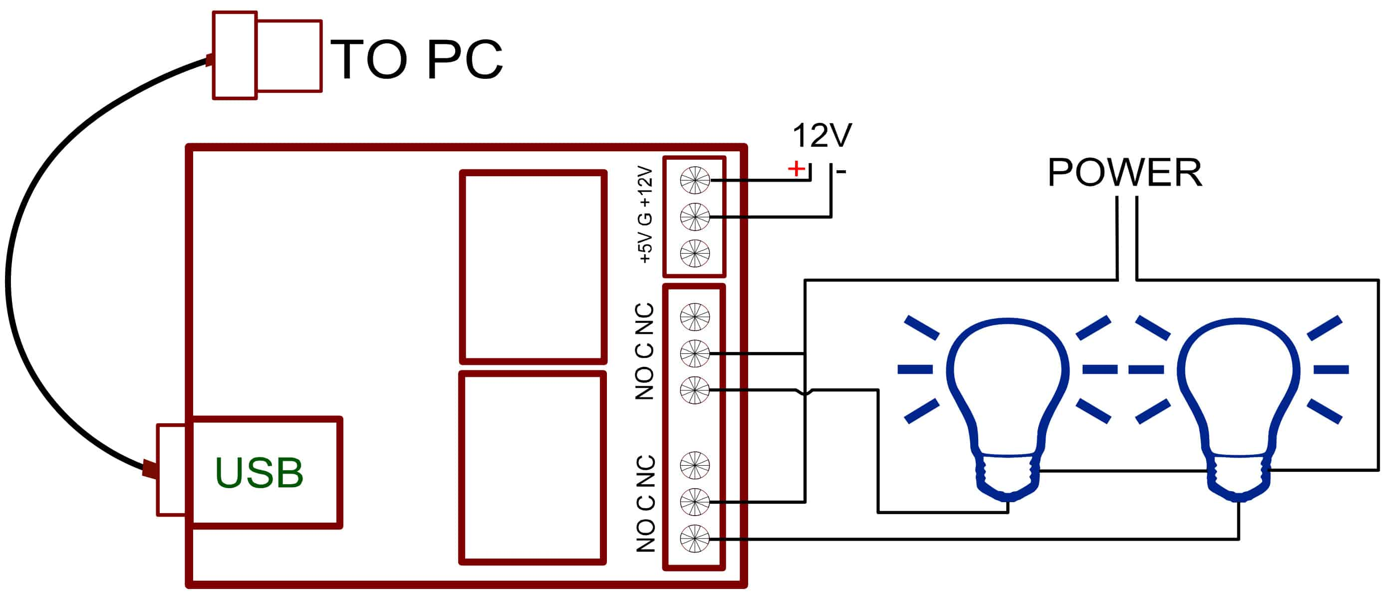 2 Channel Usb Relay Module Numato Lab Help Center Circuit Diagram Schematics Additionally Mouse Wiring Connection