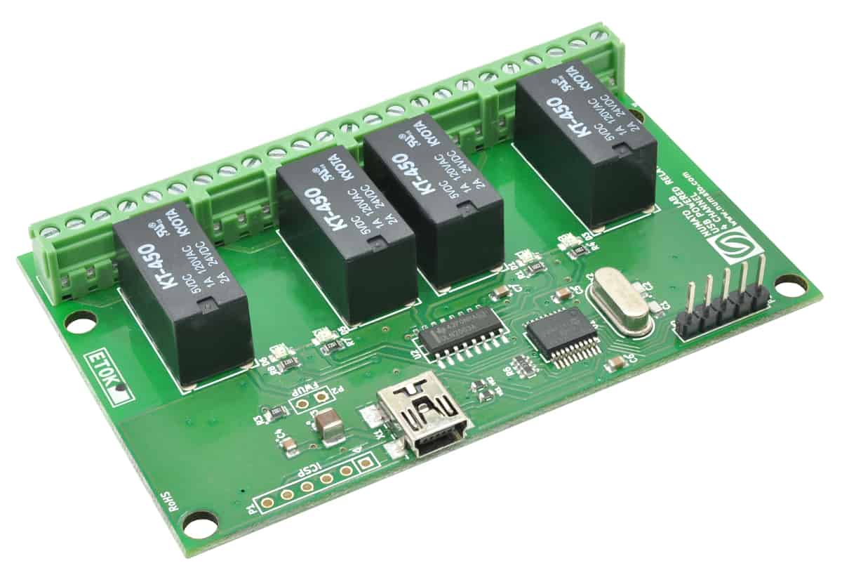 4 channel usb powered relay