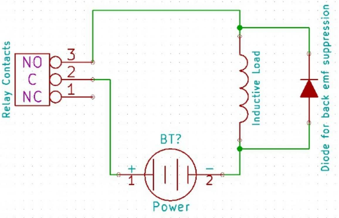 2 Channel Usb Relay Module Numato Lab Help Center Are Used To Drive The Circuit Shown Below Is Driver Using Modules With Inductive Loads Snubber Diode As
