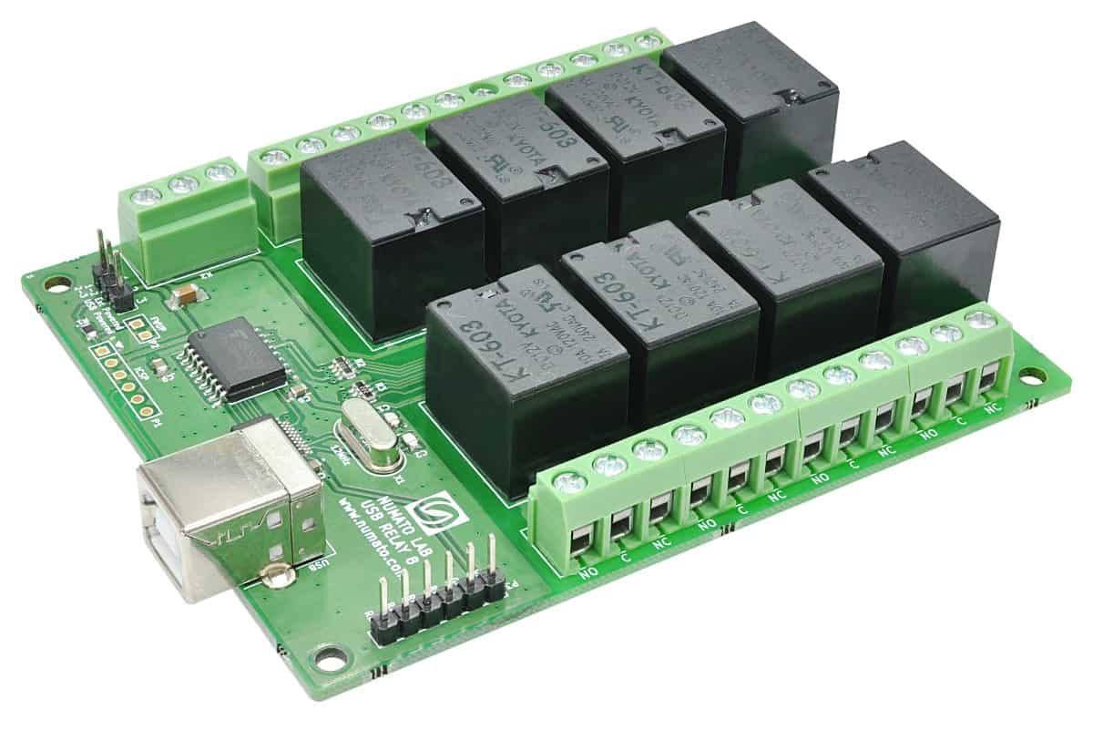 8 Channel Usb Relay Module Numato Lab Help Center Diagram On Nc 4 Pin Wiring Labs Is A Great Product For Controlling Electrical And Electronic Devices Remotely From Pc Or Mobile Device Over