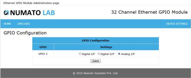 32 Channel Ethernet GPIO Analog Input Configuration