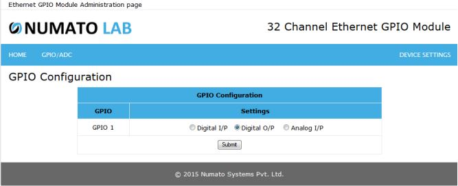 32 Channel Ethernet GPIO Output Configuration