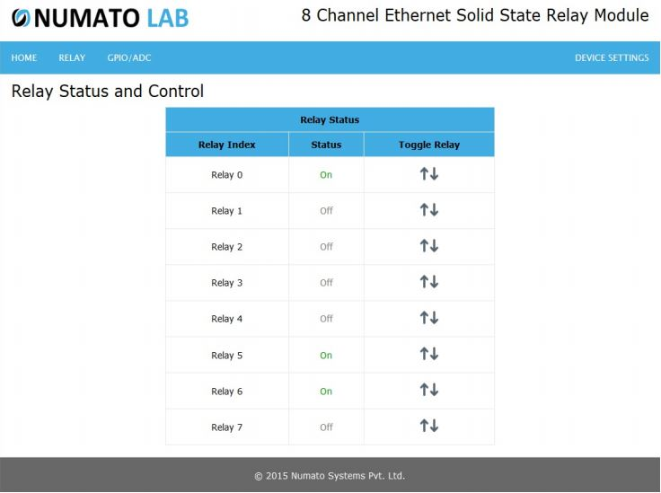 8 Channel Ethernet SS Relay Status and Control