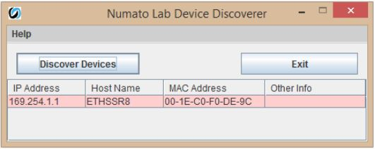 Numato Lab Device Discoverer