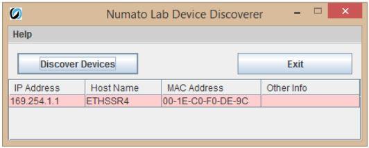 Numato Lab Device Discoverer