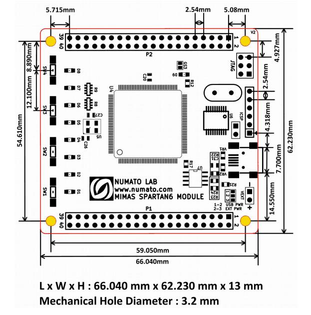 mimasspartan6-dimensions