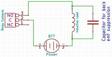 relay module capacitor