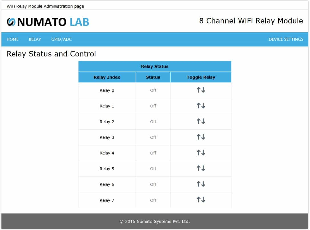 8 Channel Wifi Relay Module Numato Lab Help Center The Polarity Control Is Switched Off When Q1 Covered By Relays On Board Can Be Turned Clicking Toggle Button Next To Corresponding Index Status Of Change