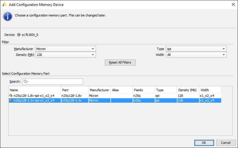 vivado_select_memory_device