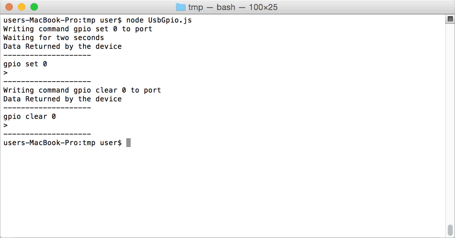 Node.JS GPIO On Mac OSX