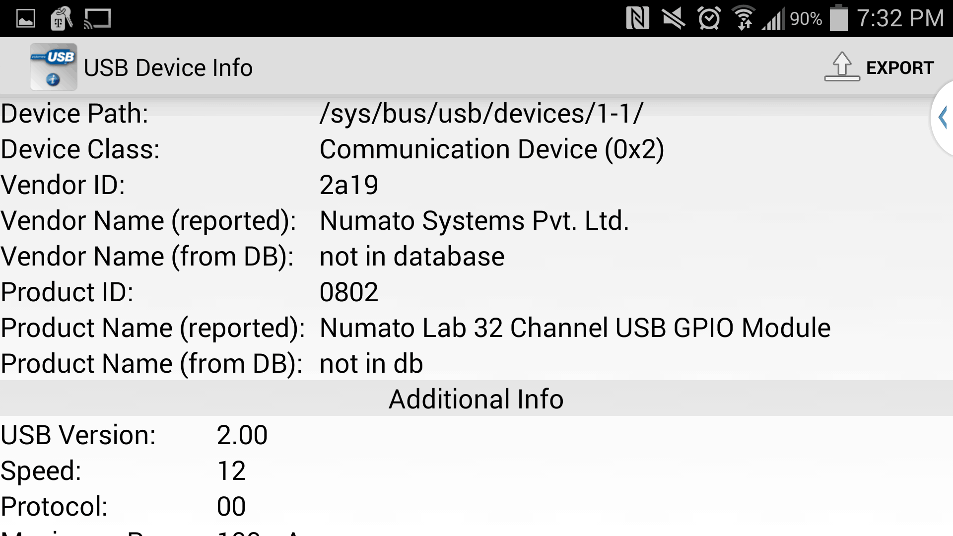Numato Lab USB Device Listed In Android