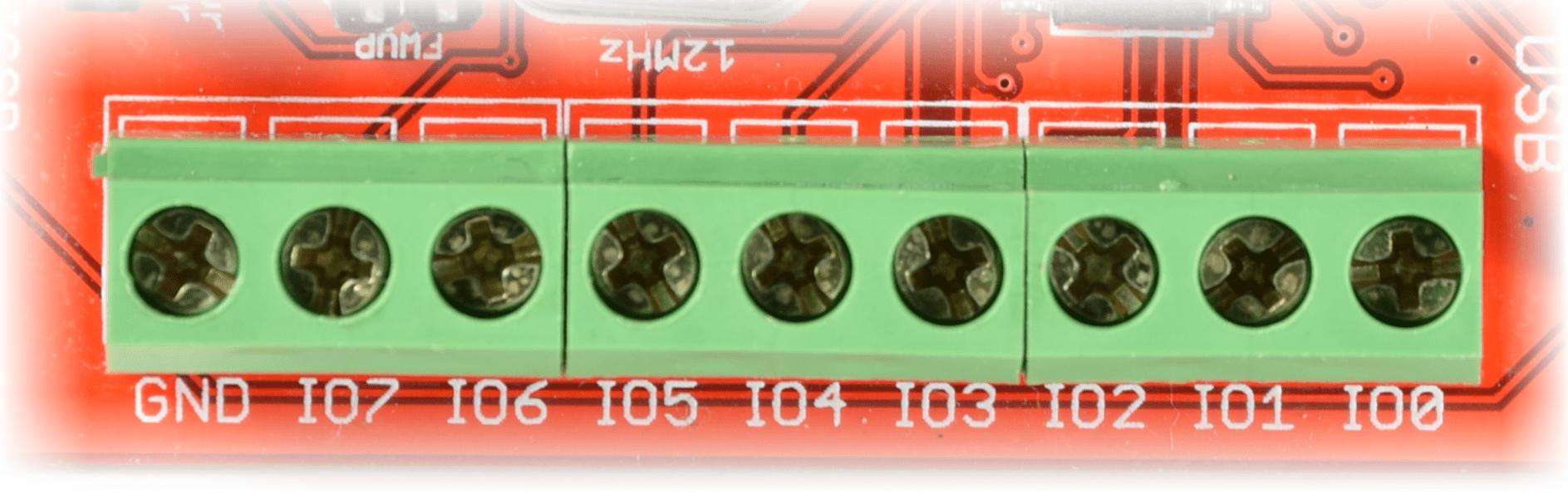 USBGpio8-IOConenctors