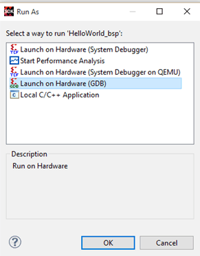 Launch Application On Hardware