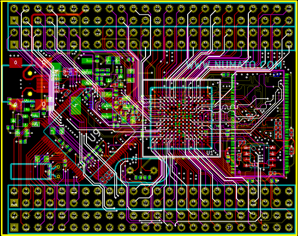 Spartan 6 FPGA Module with ATSAM (CygnusAT) Schematics and Layout