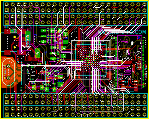 KiCad – More complex boards, our experiment with Spartan6 CSG225