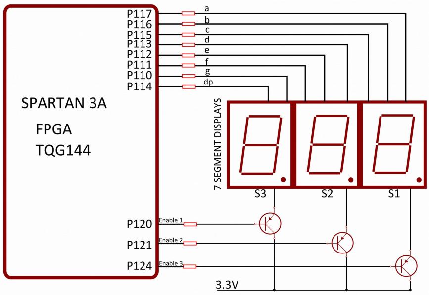 Alphabetic character display on 7 segment LED using Arduino