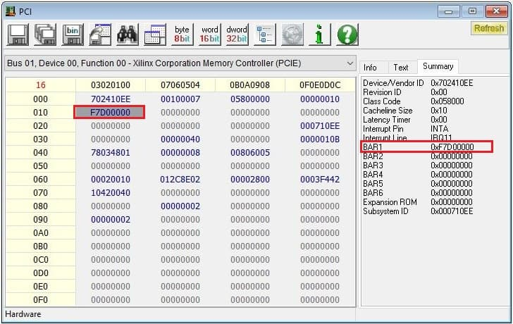 Getting started with PCI Express on Nereid Kintex 7 FPGA