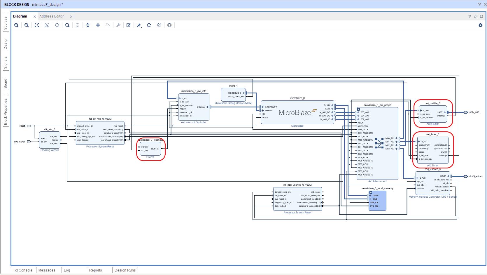 Vivado Design Suite – Create Microblaze based design using IP
