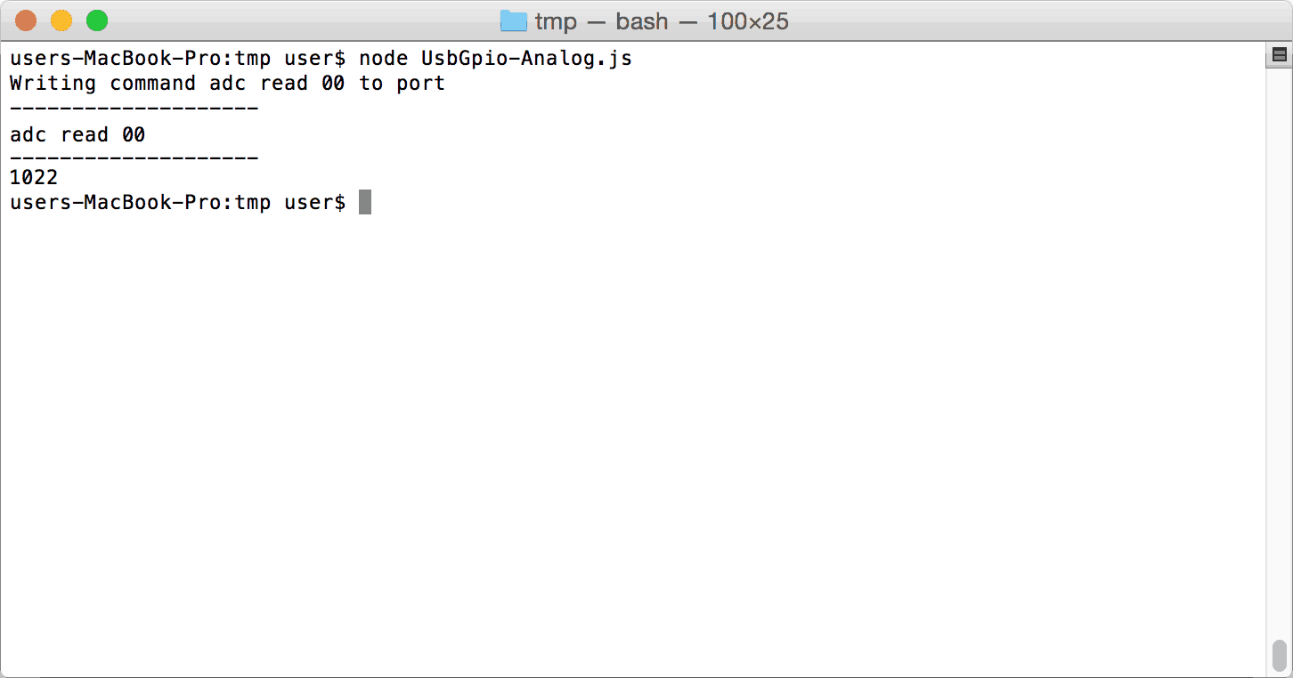 Node.JS Analog On Mac OSX
