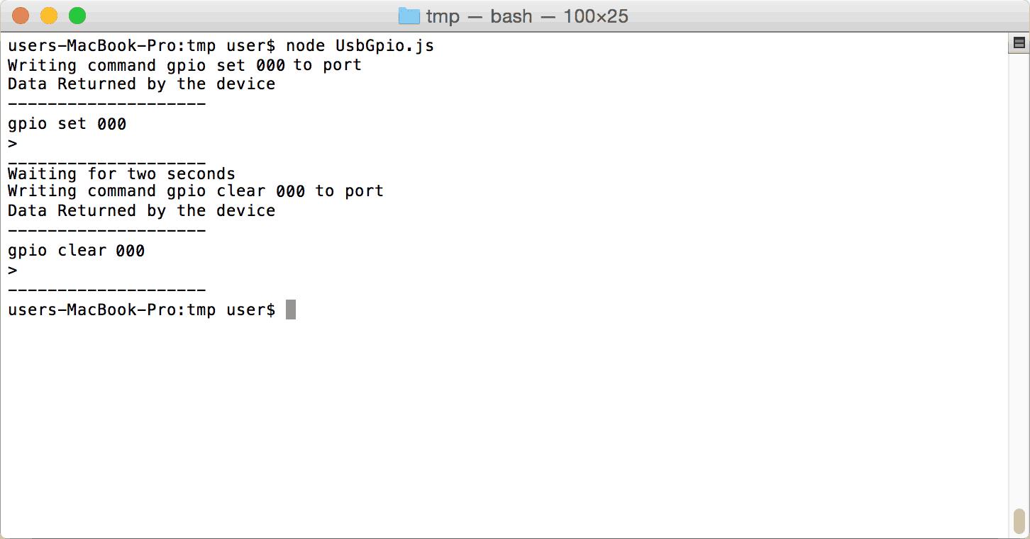 Node.JS GPIO On Mac OSX