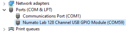 Port Name In Device Manager