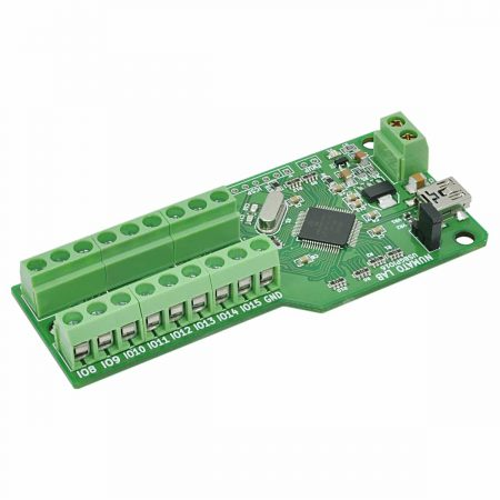 16 Channel USB GPIO Module With Analog Inputs