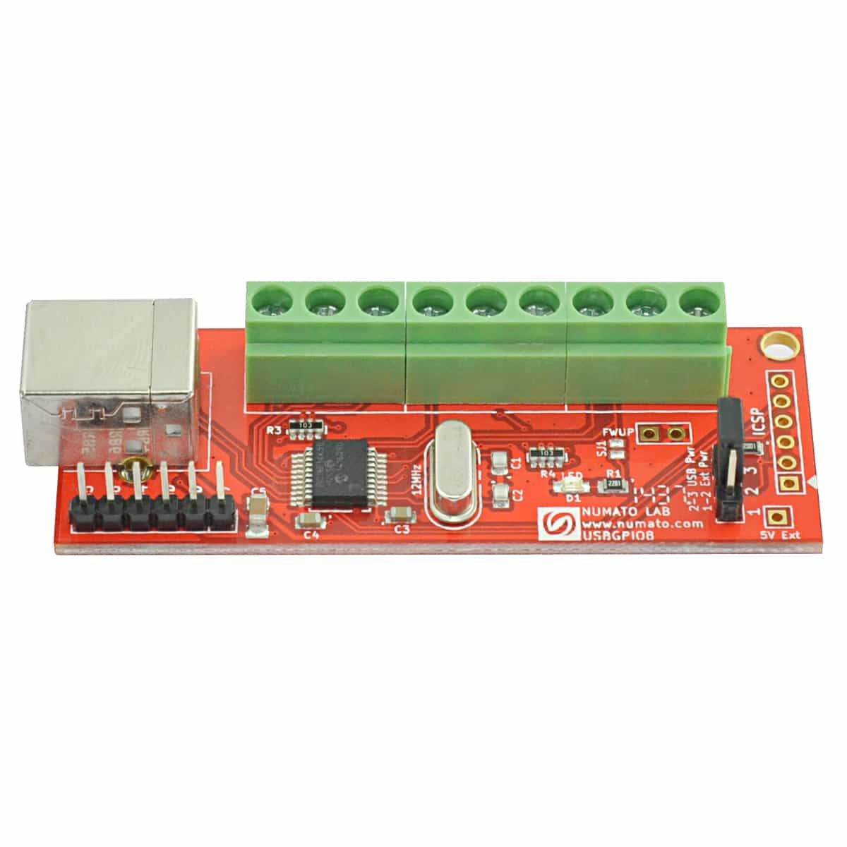 8 Channel USB GPIO Module With Analog Inputs | Numato Lab