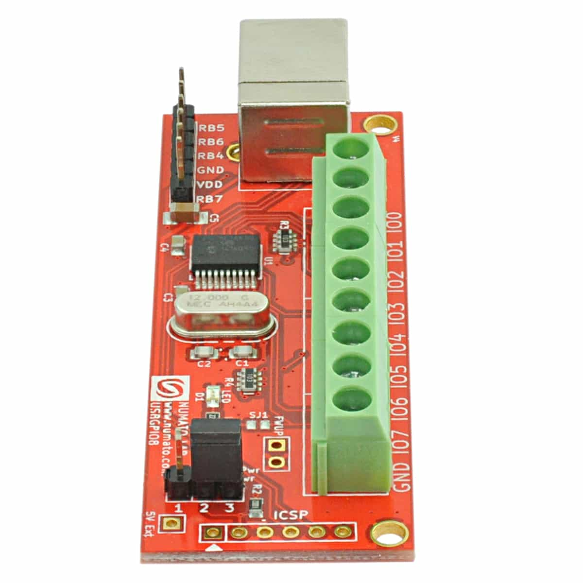 8 Channel Usb Gpio Module With Analog Inputs Numato Lab Circuit Of Pcbased Data Logger Is Designed Around To Digital