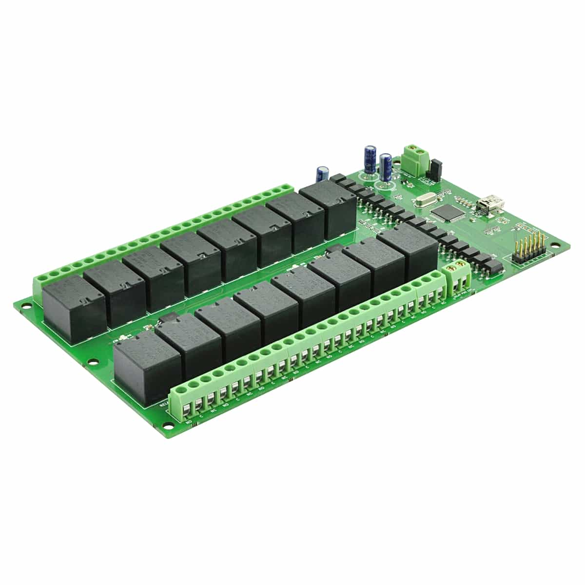 16 Channel Usb Relay Module With Gpio And Inputs Numato Lab Spdt 12v 5a