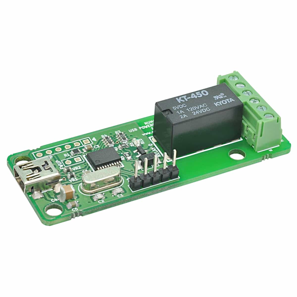 1 Channel USB Powered Relay Module With GPIO | Numato Lab