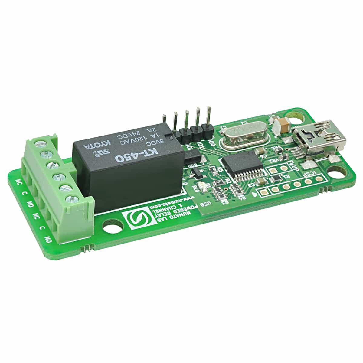 1 Channel Usb Powered Relay Module With Gpio Numato Lab Usbpowered Pic Programmer Circuit Schematic