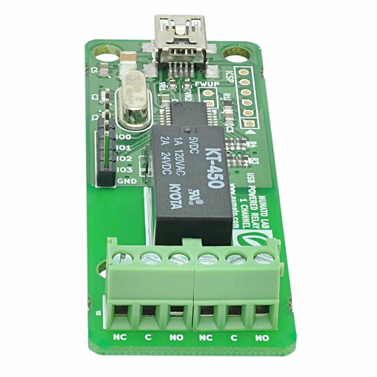 1 Channel Usb Powered Relay Module With Gpio Numato Lab Next The Four Outputs From Remote Control Inbuilt Relays