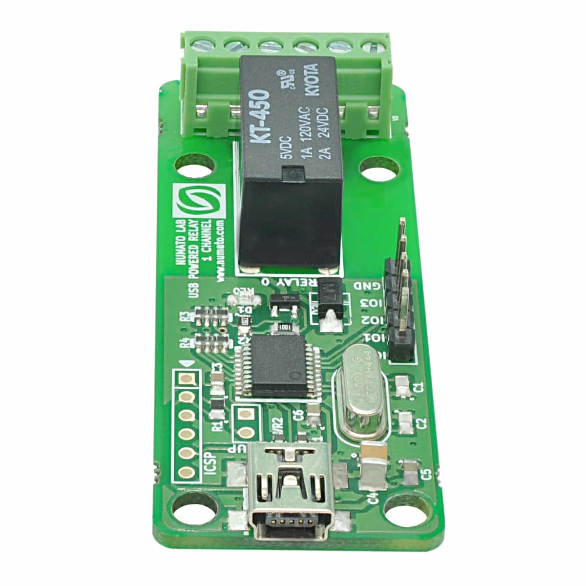 1 Channel USB Powered Relay Module With GPIO Numato Lab - Simple Wireless Relay Switch