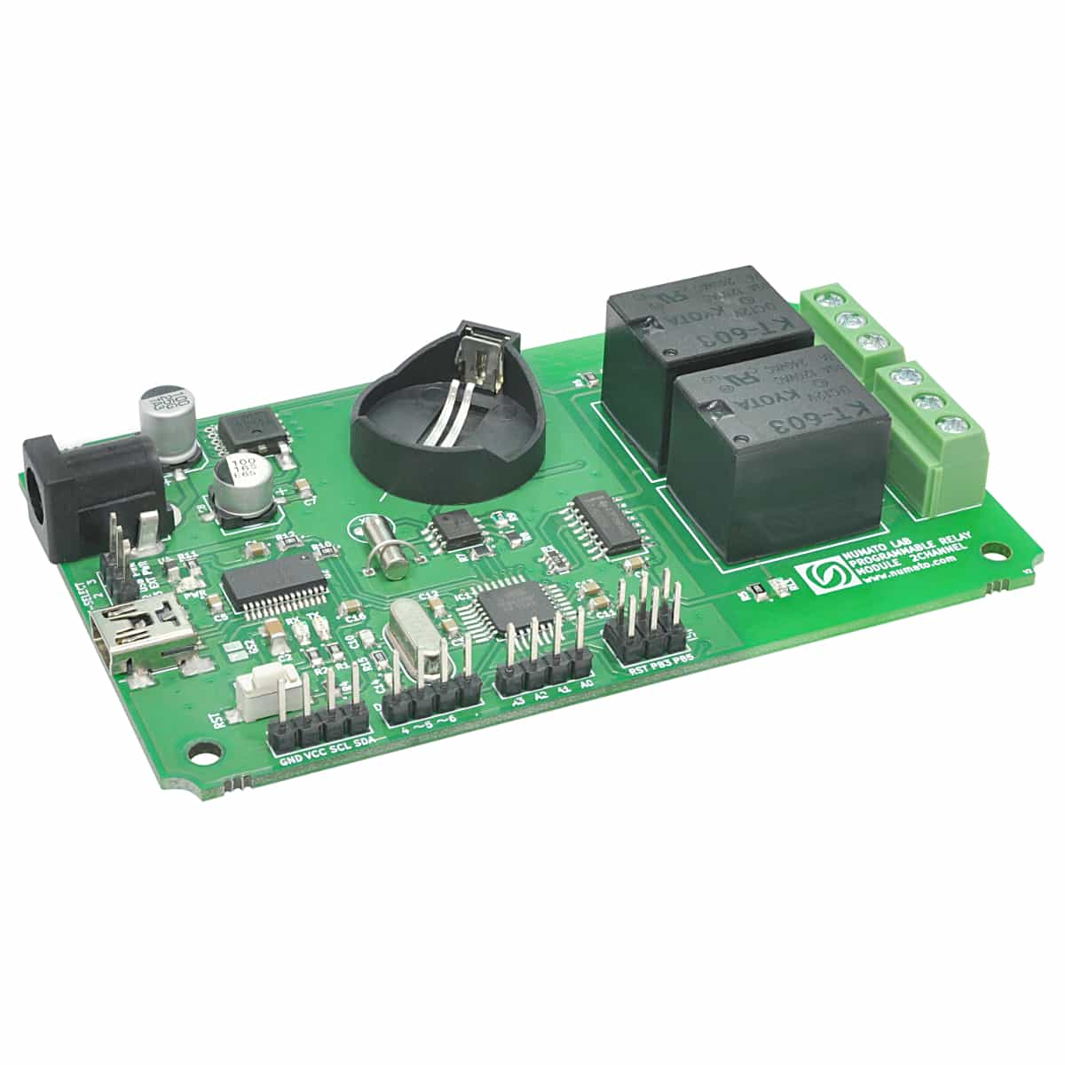 2 Channel Programmable Relay Module With GPIO