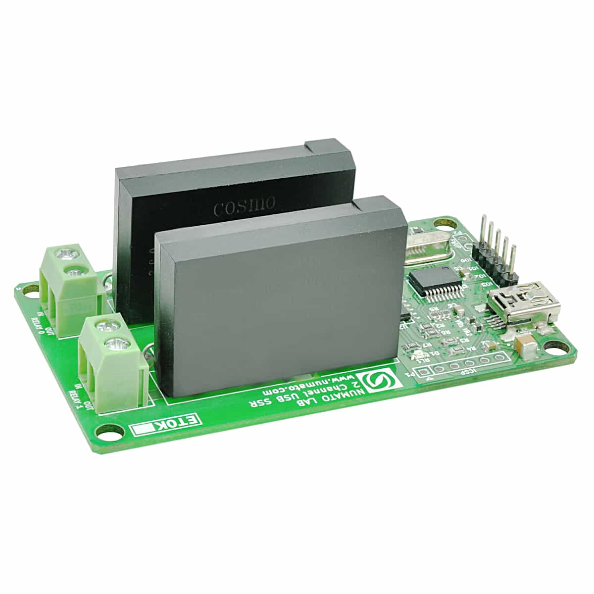 2 Channel Usb Solid State Relay Module With Gpio Numato Lab Ac Load