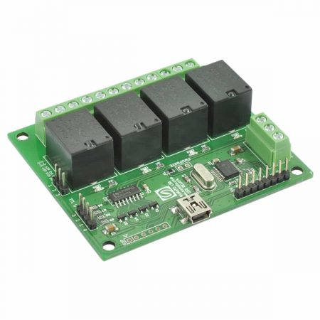 4 Channel USB Relay Module