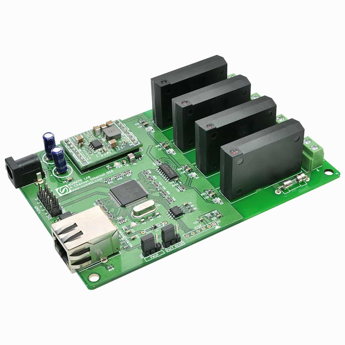 4 Channel Ethernet Solid State Relay Module Numato Lab Three Phase Block Diagram