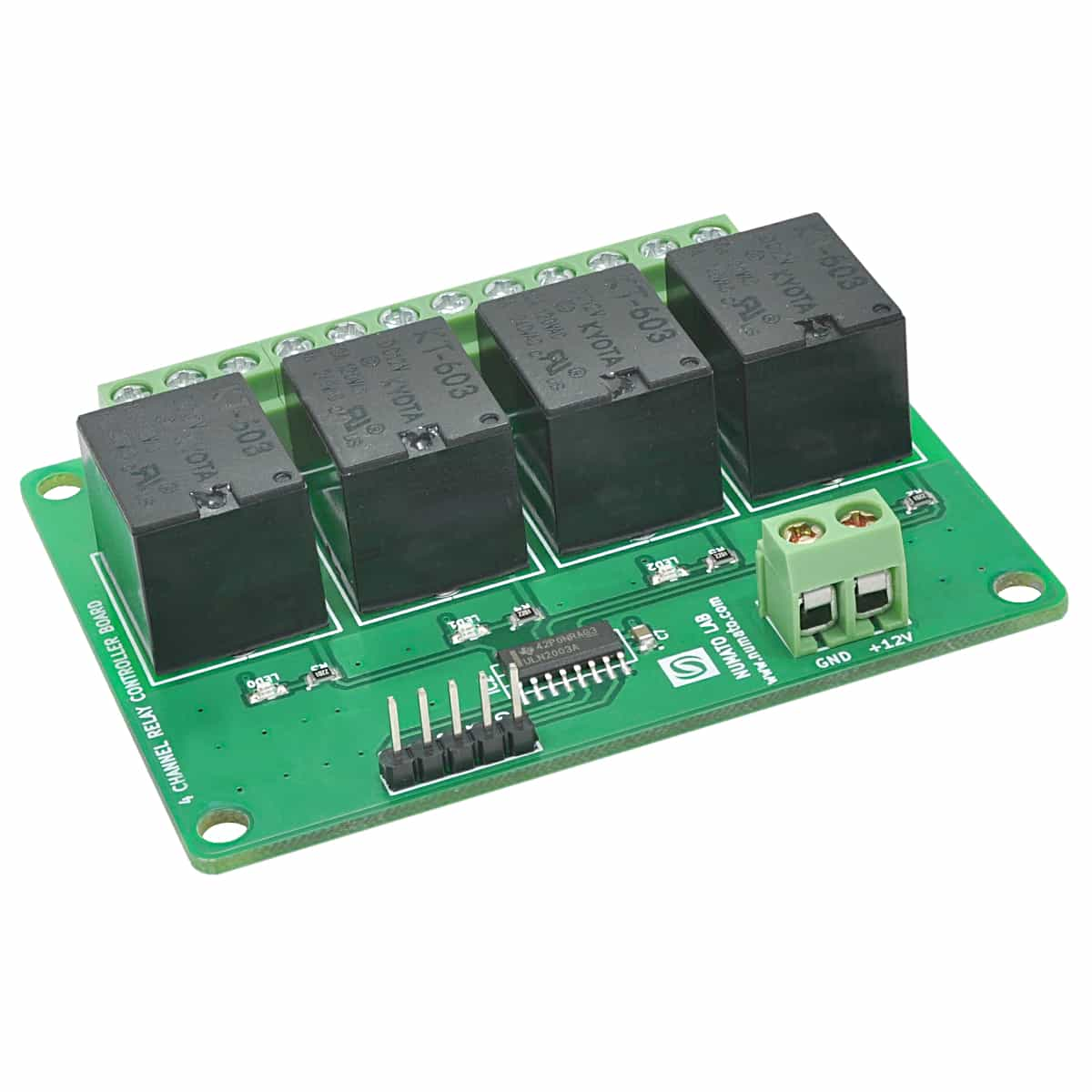 Relay Current Driver 4 Channel Ttl Compatible Controller Board Numato Lab