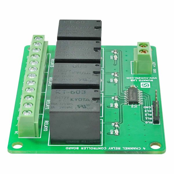 4 Channel Relay Controller Board