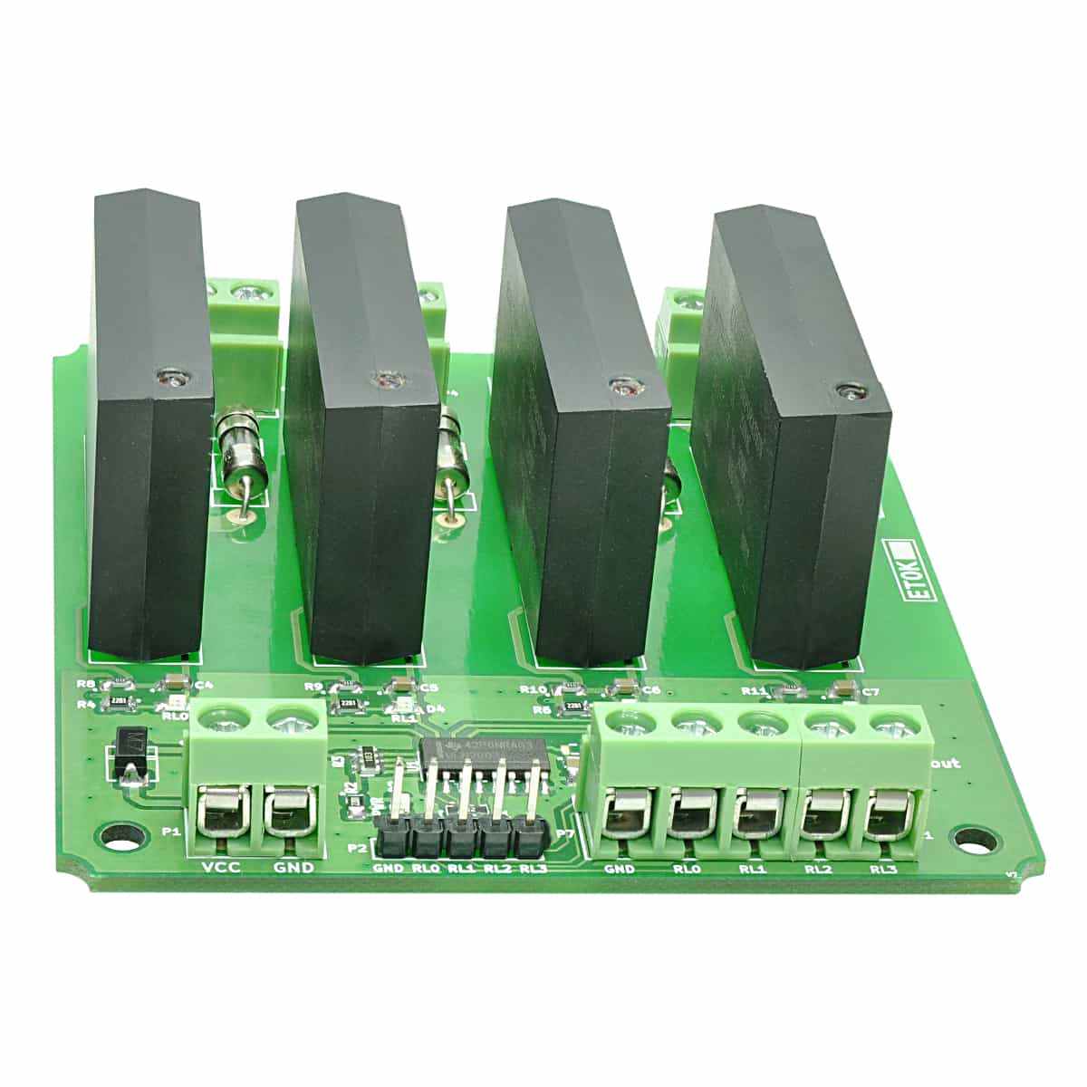 4 Channel Solid State Relay Controller Board Numato Lab