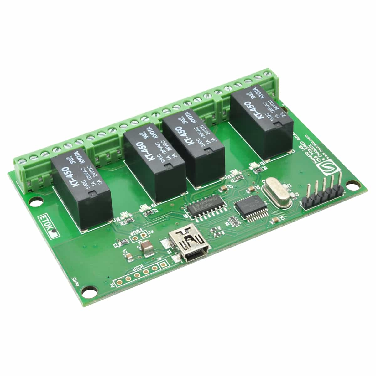 Usb Relay Modules With Gpio And Analog Inputs Numato Lab Power Que Es 4 Channel Powered Module