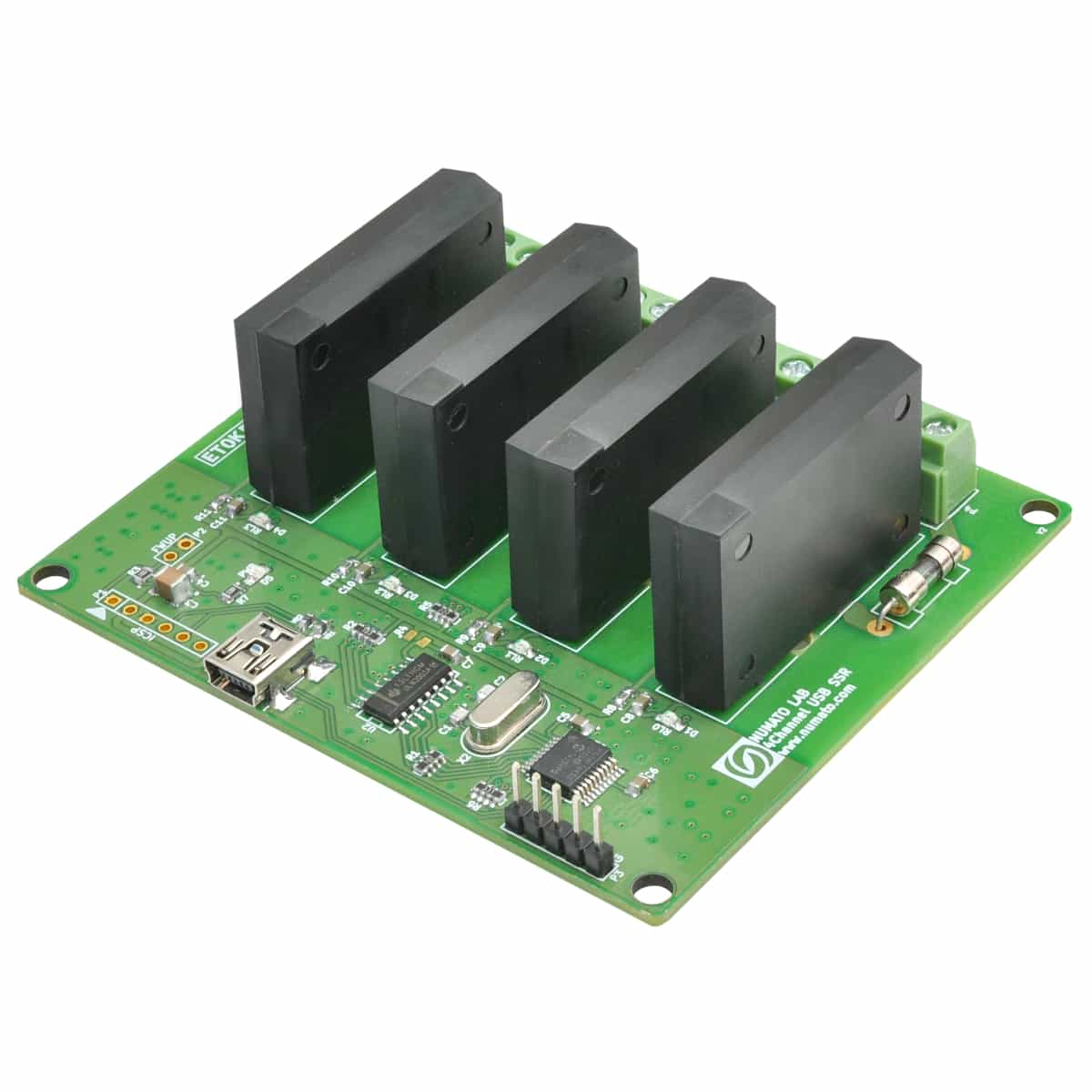 4 Channel USB Solid State Relay Module With GPIO Numato Lab