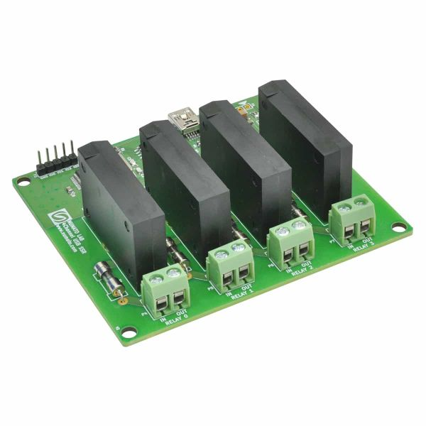 4 Channel USB Solid State Relay Module
