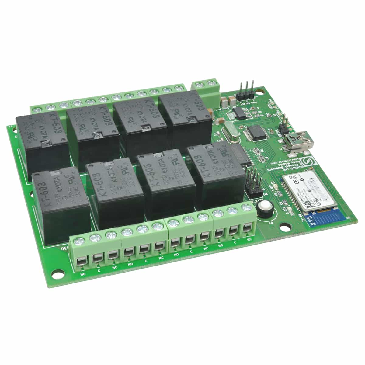 8 Channel Bluetooth Relay Module With Gpio Numato Lab Switch Over Ethernet