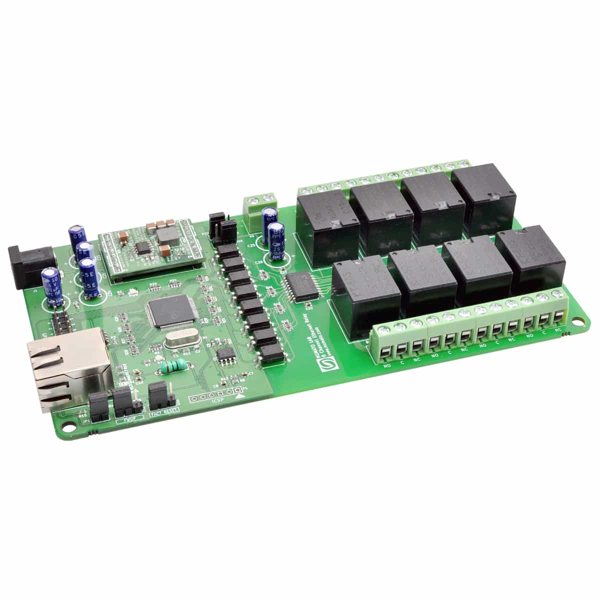 8 Channel Ethernet Relay Module With Gpio Numato Lab Common Terminal In