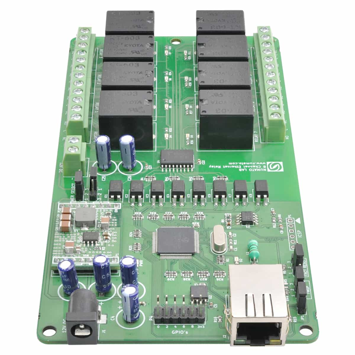 8 Channel Ethernet Relay Module With Gpio Numato Lab Electrical
