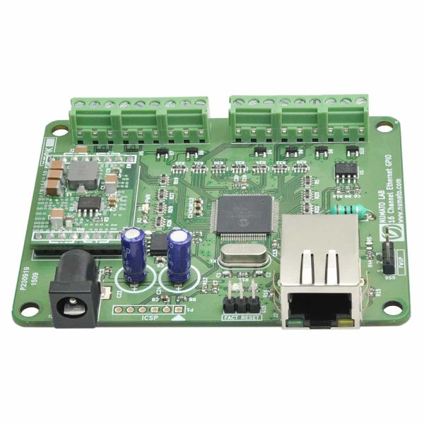 16 Channel Ethernet GPIO Module With Analog Inputs